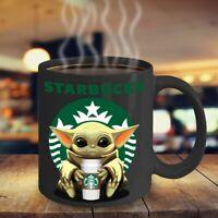 STARBUCKS Yoda Black Coffee Mug 11 Ounces Funny Baby Yoda STARBUCKS Coffee Mug