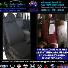 Volkswagen VW Amarok Front and Rear Neoprene Car Seat Covers - 2H - WITH LUMBAR