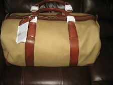 8445ad28b312 NEW  298 Polo Ralph Lauren Duffle Overnight Gym Canvas Bag - KHAKI   BROWN