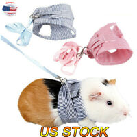 Small Pet Harness Leash Vest Traction Rope Collars For Guinea Pig Hamster Animal