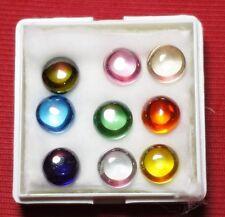 Powerful Nok Phra Gow 9 Colors Lucky Gems Naga Eye  Crystal Real Thai Amulet#A58