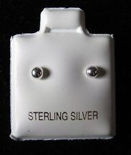 3 mm bola de plata esterlina Pendientes con Pasador