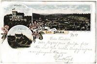 Ansichtskarte Bad Sulza - Krähenhütte/Schloss Bergsulza/Ortsansicht - Litho 1899