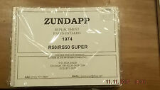 ZUNDAPP 1974 R50/RS50 SUPER CATALOGO RICAMBI 751