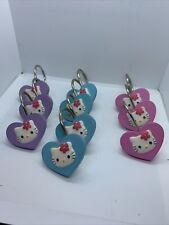 SANRIO Hello Kitty Hearts Set of 10 Shower Curtain Hooks