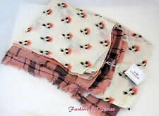 "New w Tag Coach F86088 PATCHWORK WRAP Scarf Blush Muilti 50"" x 70"""