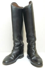 Vintage Germany Women's Leather Riding Boots VTG Königs Reitstiefel Small Size