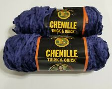 Lot of 2 Skeins Monarch Chenille Thick & Quick Lion Brand Yarn