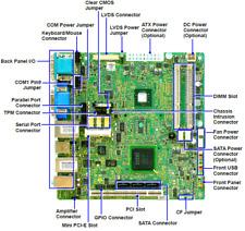 MSI MS-9885 Industrial PC POS mini-ITX motherboard; PoweredUSB,RS-232,LVDS,2xLAN