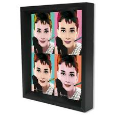 Audrey Hepburn Pop Art 8 x 10 3-D Shadow Box Image Moves as Viewing Angle Change