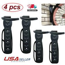 4PCS Bike Wall Mount Hook Bicycle Hanger Garage Storage Holder Rack Black US
