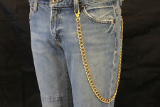New Men Gold Wallet Chains Metal Fashion Jewelry KeyChain Biker Strong Big Links