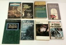 8 books Horror Monsters Poe Stoker Lovecraft Hurwood James Beckford Woolf Mann