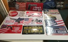 12-license Plates Gun God America Police 911 Wholesale