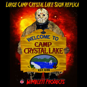 LARGE Friday The 13th, Camp Crystal Lake, Sign Replica, Movie Memorabilia