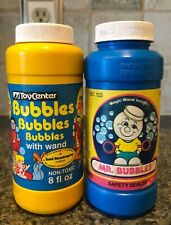 Vintage 1987 Tootsietoy Mr Wonder Bubbles - Empty Bottle & Wand + Other Brand