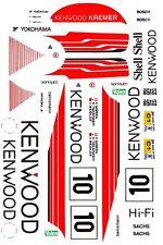 #10 Kenwood Porsche 962 1989 1/24th - 1/25th Scale Decals