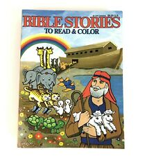 VTG Bible Stories Coloring Book Read and Color Bible Stories New Old Stock!