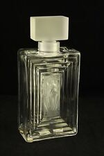 """Lalique Frosted Art Glass Flacon Duncan #3 Perfume Bottle 11381 France 7-3/4"""""""