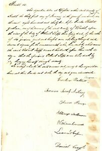 1832 Early Am Doc> INQUISITION OF OTHINEL TRIPP OF DIGHTON DEATH CAME BY HANGING