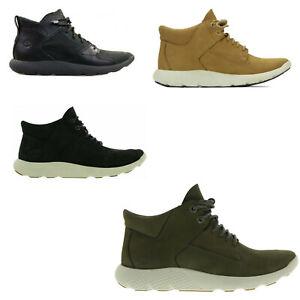 Original  Timberland FlyRoam Chukka Hikker Lichen Mid Boots Black Wheat Green