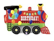 "Happy Birthday Train 37"" Balloon Birthday Party Decorations"