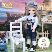 BJD Doll Puppe 30cm Geschenk Für Mädchen DIY Puppen Mit Kleidung Make-up Augen