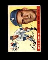 Bob Grim Rookie Card 1955 Topps #80 New York Yankees