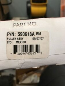 Genuine Tecumseh 590618A Pulley Assembly (BXE9)