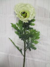 Deko künstlich Mohnblume Mohn Zweig 70 cm Seidenblumen Floristik Blumen wie echt