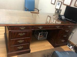 John Widdicomb executive desk and credenza