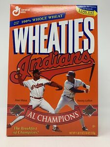 Wheaties Cleveland Indians 95 AL Champions Box Fantastic Unopened Codition