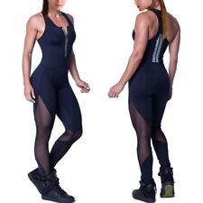 Women Sports YOGA Jumpsuit Workout Gym Fitness Bodysuit Leggings Pants Rompers A