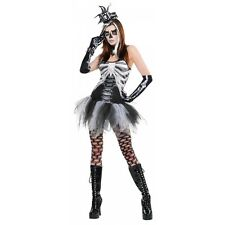 Skeleton Costume Adult Female Voodoo Halloween Fancy Dress