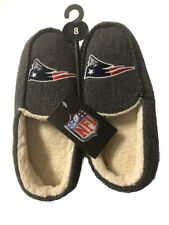 NFL New England Patriots Football Men's Cotton Lined Slippers Loafers - Size 8