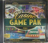 Casino Game Pak Jewel Case (PC, 2001)