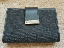 100% Authentic GUCCI Black Leather Card Money Holder / Case - New & Boxed