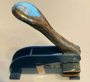 "Vintage Marshall Field And Company ""Official"" K-O Desk Embosser Stamper Press"