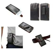 for ZTE AXON 7 Genuine Leather Holster Case belt Clip 360° Rotary Magnetic