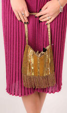 Vintage art deco  style sequin beaded tassel fringed flapper  ACCESSORIZE bag