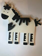 Wooden Wall Decor Animals [Wooden Nursery Zebra] Sparkle Collection PREOWNED*