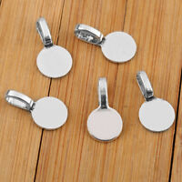 50Pcs 10mm Tasteful Round Glue on Bails Setting Bail FOR Necklace Pendant Loop