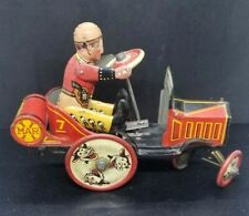 1929 Marx Tin-Litho WHOOPEE Cowboy Crazy Wind-Up Friction Car Works!