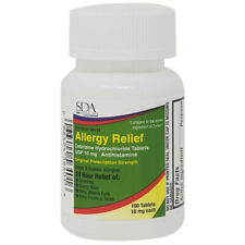 Allergy Relief Cetirizine Hcl 10mg 100ct by Sda Labs