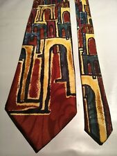ROS Beat Vintage Tie in a Multi-coloured Abstract Pattern