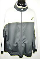 Nike Dri Fit Men's Size XXL Gray Full Zip Training Track Jacket Big and Tall EUC
