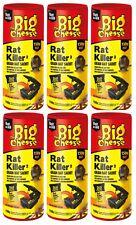 6 x Rat Killer Grain Bait 150g RAT KILLER The Big Cheese Sachet For Bait Station