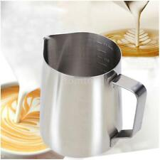 550ml Stainless Steel Coffe Milk Frother Pitcher Creamer Measuring Cups F4U7