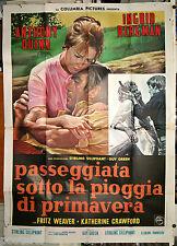 manifesto 4F originale WALK IN THE SPRING RAIN Ingrid Bergman Anthony Quinn 1970