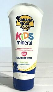 Banana Boat Kids Mineral Sunscreen SPF 50 Broad Spectrum WATER RESISTANT New